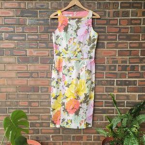 Sara Campbell Floral Dress Sz4